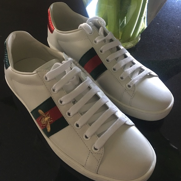 30096b5e7 Gucci Shoes | Ace Leather Sneakers Size 7 | Poshmark